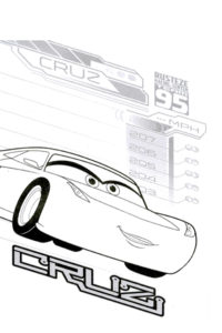 Cruz Ramirez coloring pages
