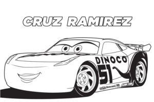 Cruz Ramirez coloring page