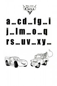Cars alphabet