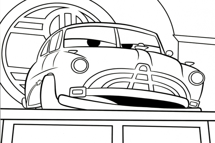 Coloring in cars coloring pages from the 13 Disney movies
