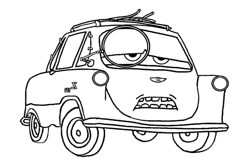 the professor from cars ii painful cars 2 coloring pages - Childrens Colouring Pictures 2