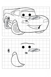 Learn to draw by copying McQueen