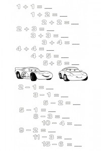 Cars math game