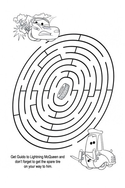 Bring the spare tire through this maze game