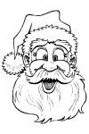 Funny face of Santa