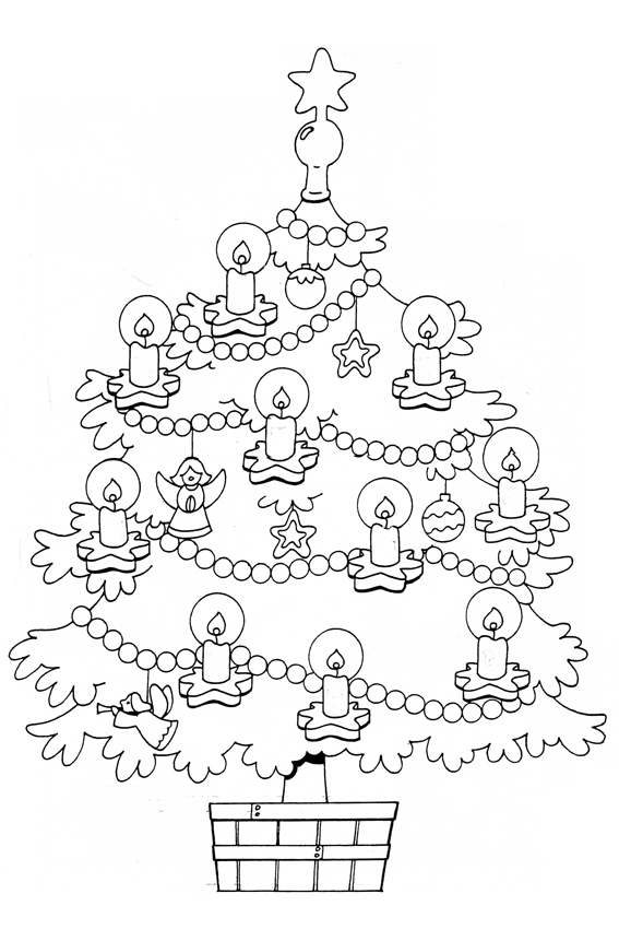 Presents Coloring Page Pooh Decorating The Christmas Tree Decorated Stable