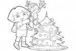 Dora and Boots coloring page