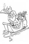 Santa in a sledge