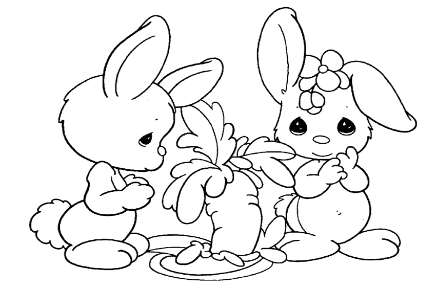 Color in a bunnies coloring page
