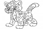 Diego coloring pages with Baby Jaguar