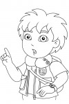 Go Diego Go coloring page