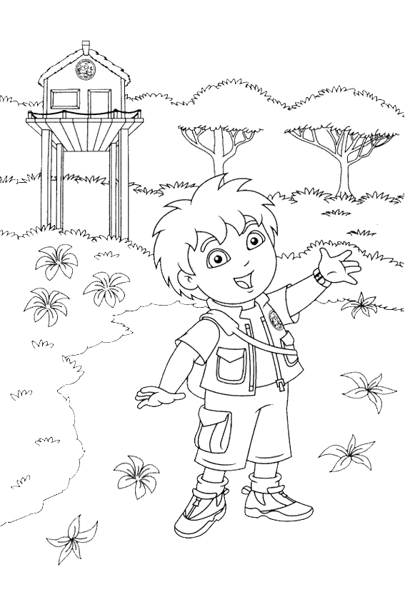 Diego coloring pages overview with