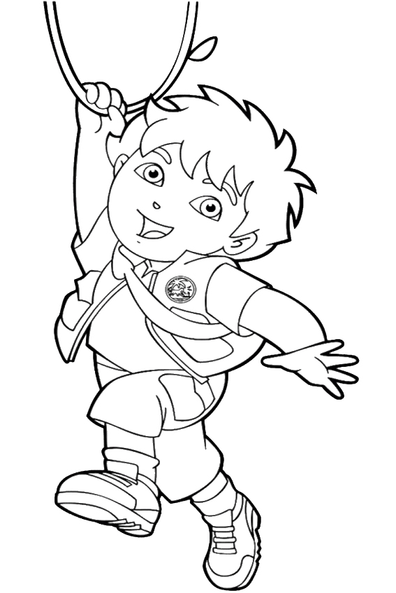 diego christmas coloring pages - photo#6