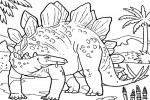 Dinosaur coloring pages 003