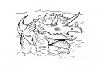 Dinosaur coloring pages 004