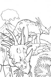 Dinosaur coloring pages 010