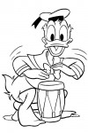 Donald drumming