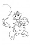 Donald with flowers for Daisy
