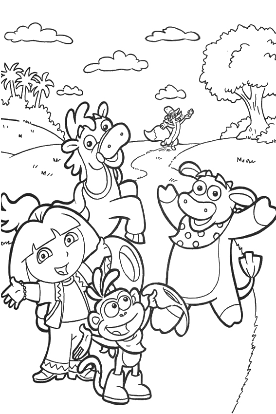 dora carnival coloring pages - photo#10