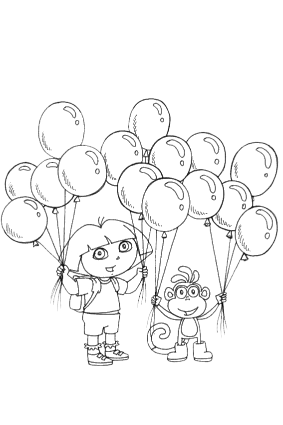 Coloring Pages Of Dora And Boots