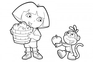 Dora coloring pages 023