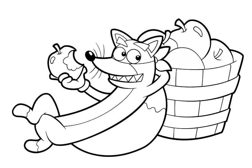Dora coloring pages overview with all kind of free Dora sheets
