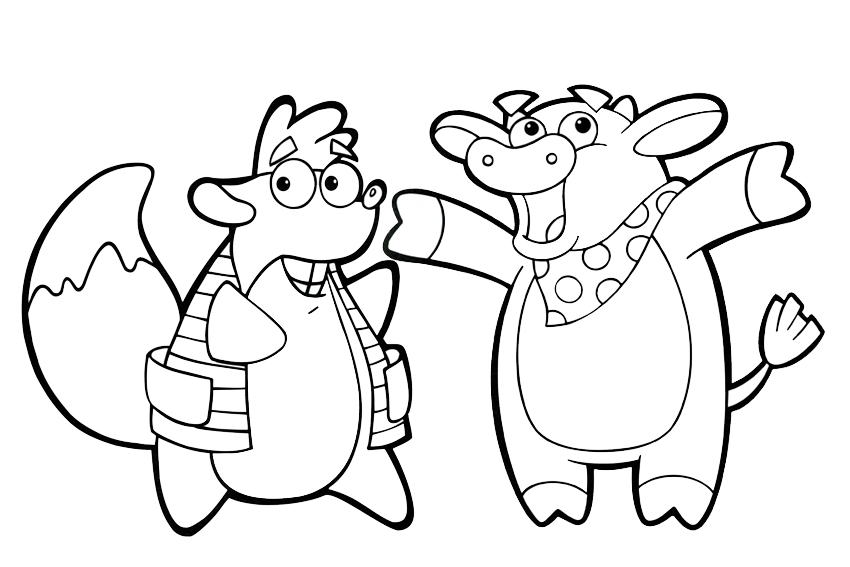 Dora Coloring Pages 025