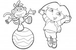 Dora coloring pages 027