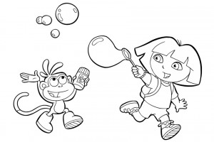 Dora coloring pages 033