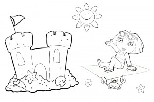 Dora coloring pages 034