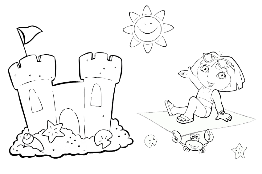 Dora Coloring Pages 033 034