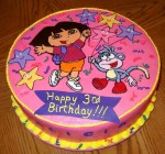 Dora birtday cake