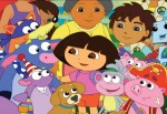 Dora picture from Dora surrounded by family and friends like Diego