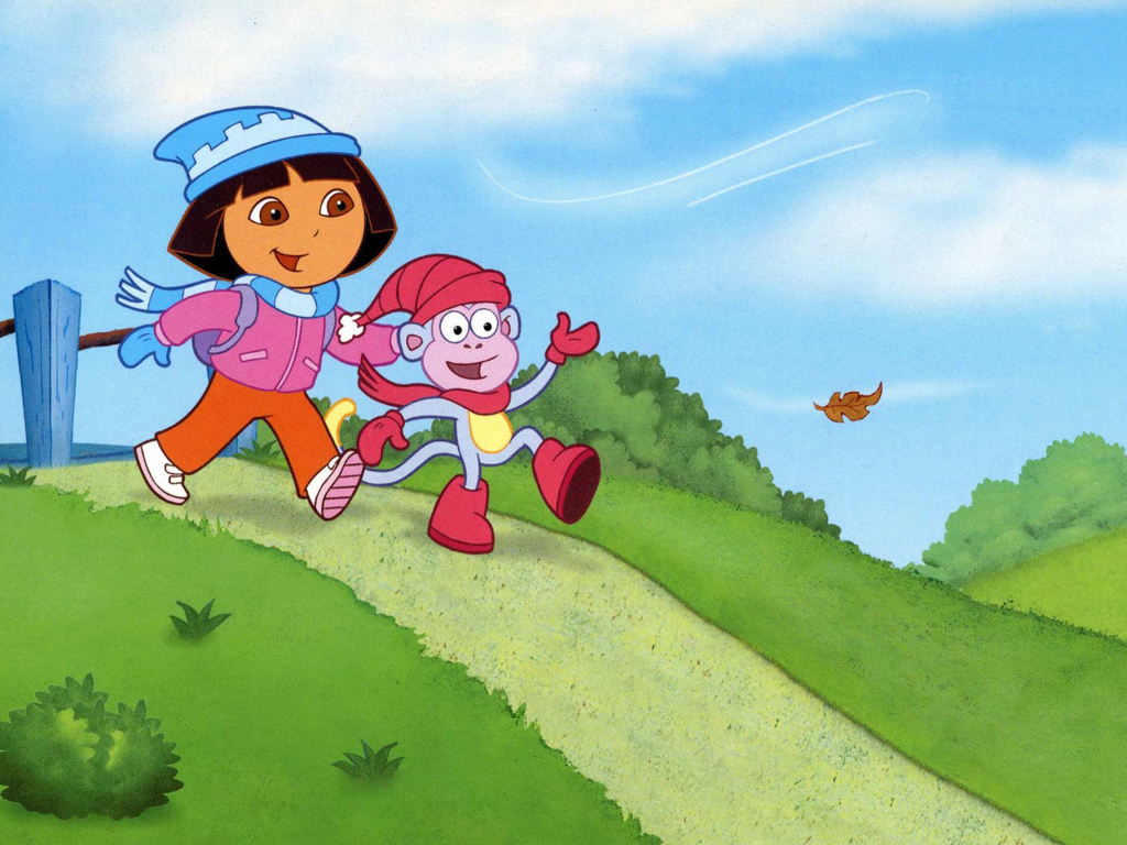Dora and Boots in cold weather ...
