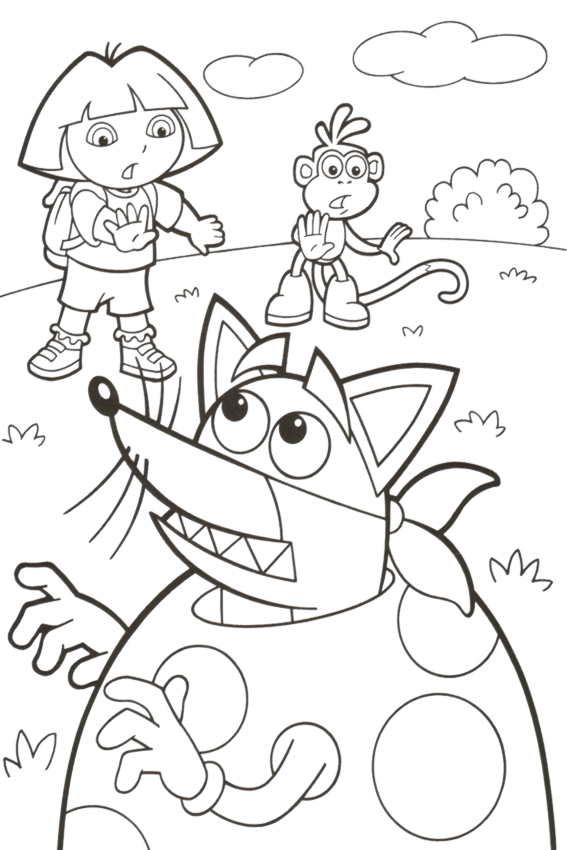 dora easter coloring pages - photo#25