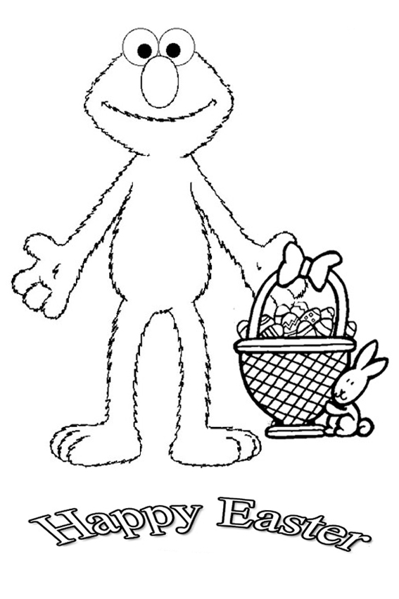 rollercoaster bunny elmo wishes you a happy easter