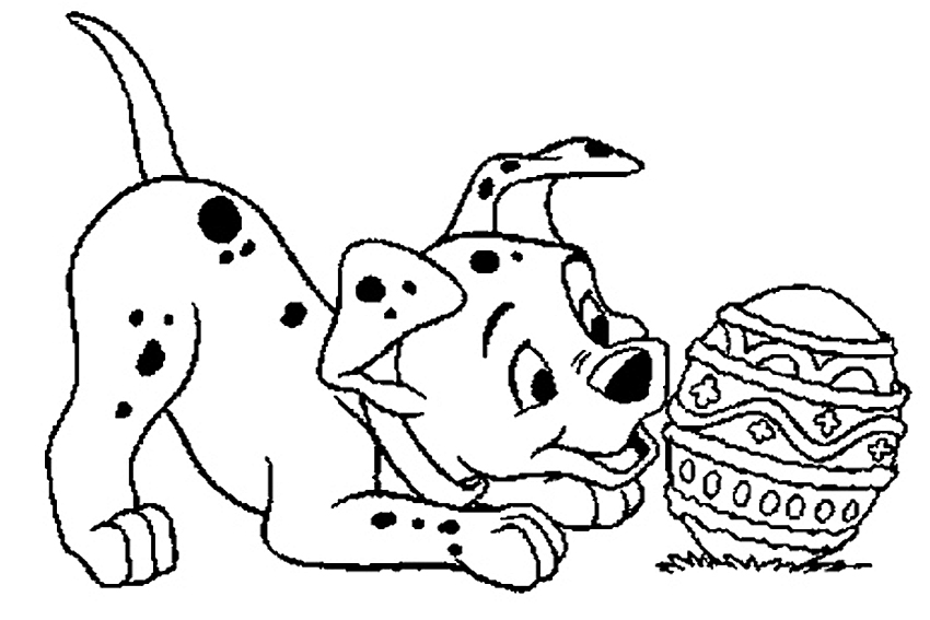 One Of The Dalmatians Loves Playing With An Easter Egg