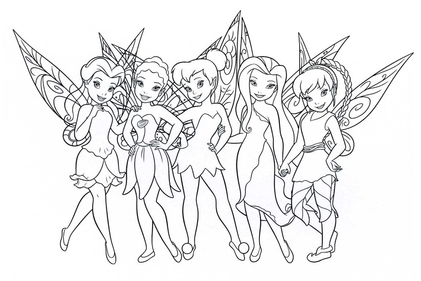 Tinkerbell Coloring Pages Overview With A Lot Of Fairies