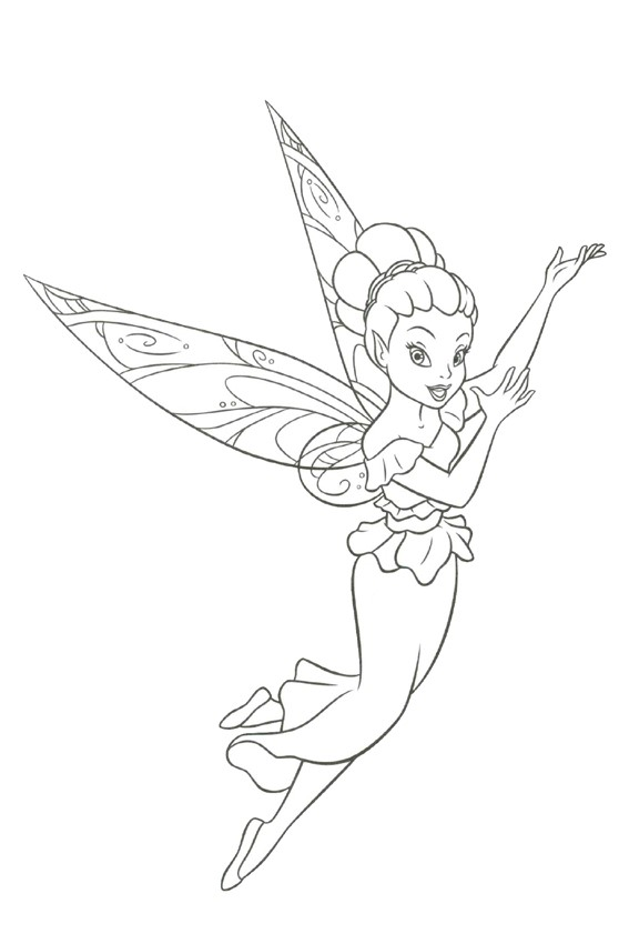Fairy coloring pages overview with