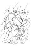 Pooh and Piglet in the rain
