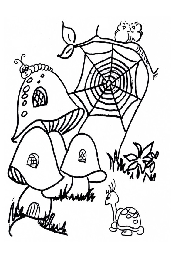 Autumn coloring pages to color