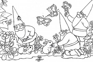 Gnomes with forest animals