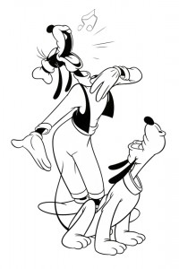 Sing along with Pluto and Goofy