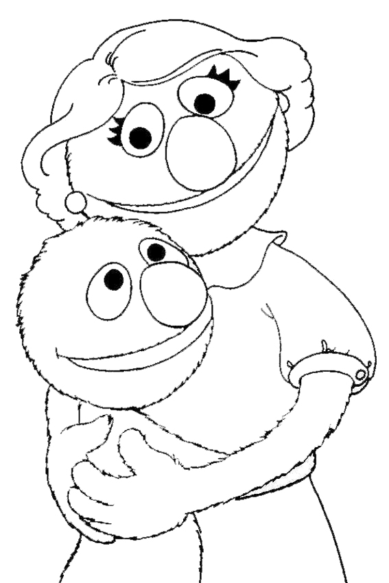 Pick one of the mothers day coloring pages to surprise mom for Grover coloring pages