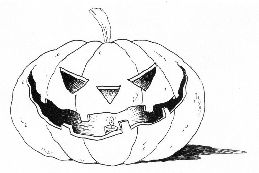 Halloween coloring pages from monsters, witches, ghosts, etc