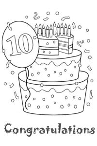 Congratulations coloring page
