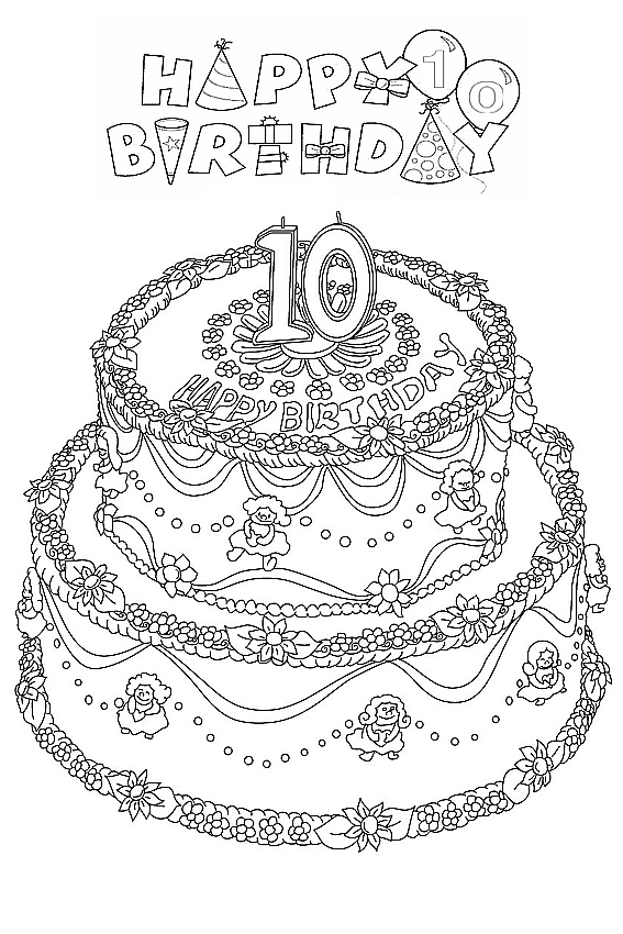 coloring pages for your birthday - photo#28