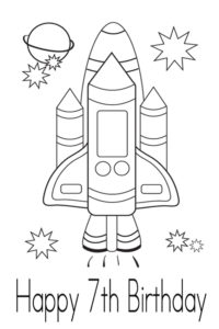 Coloring page for your 7th birthday