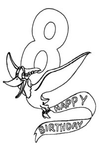 Coloring pages for your birthday