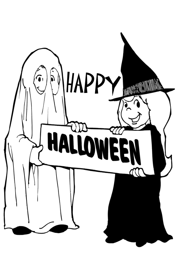 Baby Halloween Coloring Pages. Also famous stars celebrate Halloween as you can see in the  coloring pages below with Di Da Dora and Garfield from monsters witches ghosts etc